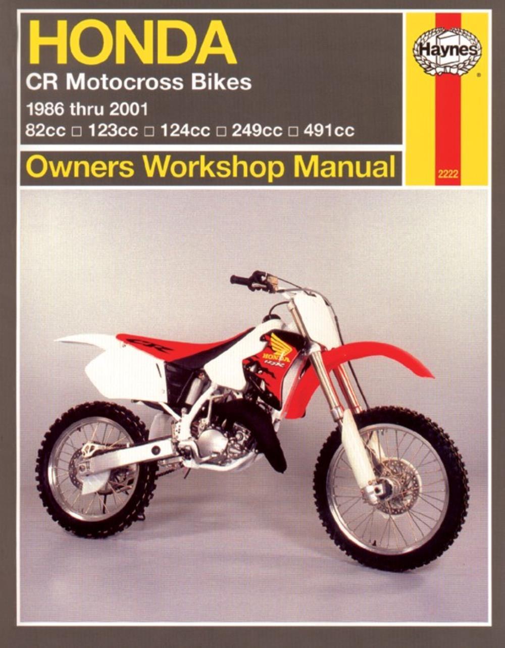 medium resolution of image is loading manual haynes for 1988 honda cr 250 rj