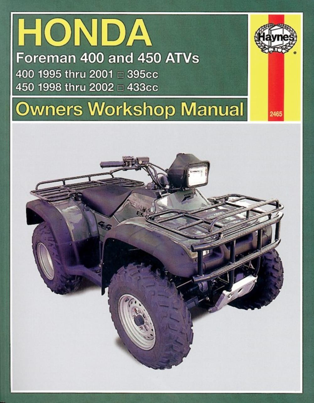 hight resolution of image is loading manual haynes for 2001 honda trx 400 fw1