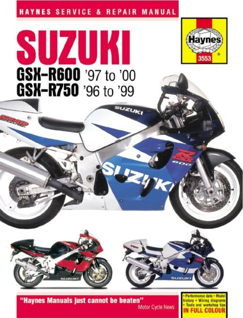 small resolution of haynes manual 3553 suzuki gsx r600 750 fours 96 99 special ebay 99 gsxr 600 wiring diagram