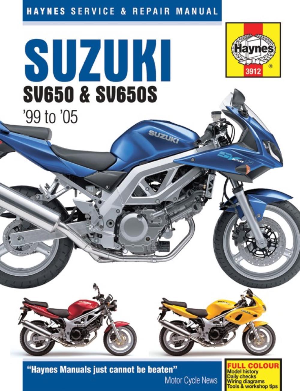 medium resolution of image is loading manual haynes for 2003 suzuki sv 650 k3