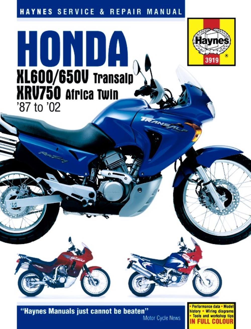 hight resolution of manual haynes for 1994 honda xrv 750 r africa twin rd07 ebay honda motorcycle headlight wiring diagram honda 750r wiring diagram