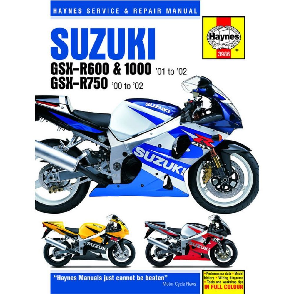 medium resolution of manual haynes for 2001 suzuki gsx r 600 k1