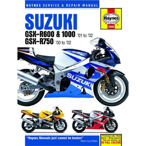 small resolution of manual haynes for 2001 suzuki gsx r 600 k1