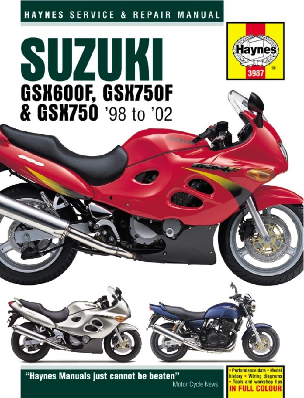 medium resolution of image is loading manual haynes for 2001 suzuki gsx 750 k1