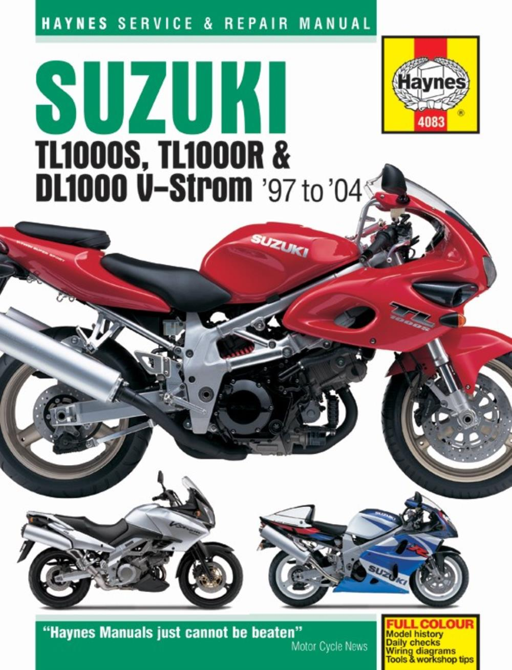 hight resolution of image is loading manual haynes for 1999 suzuki tl 1000