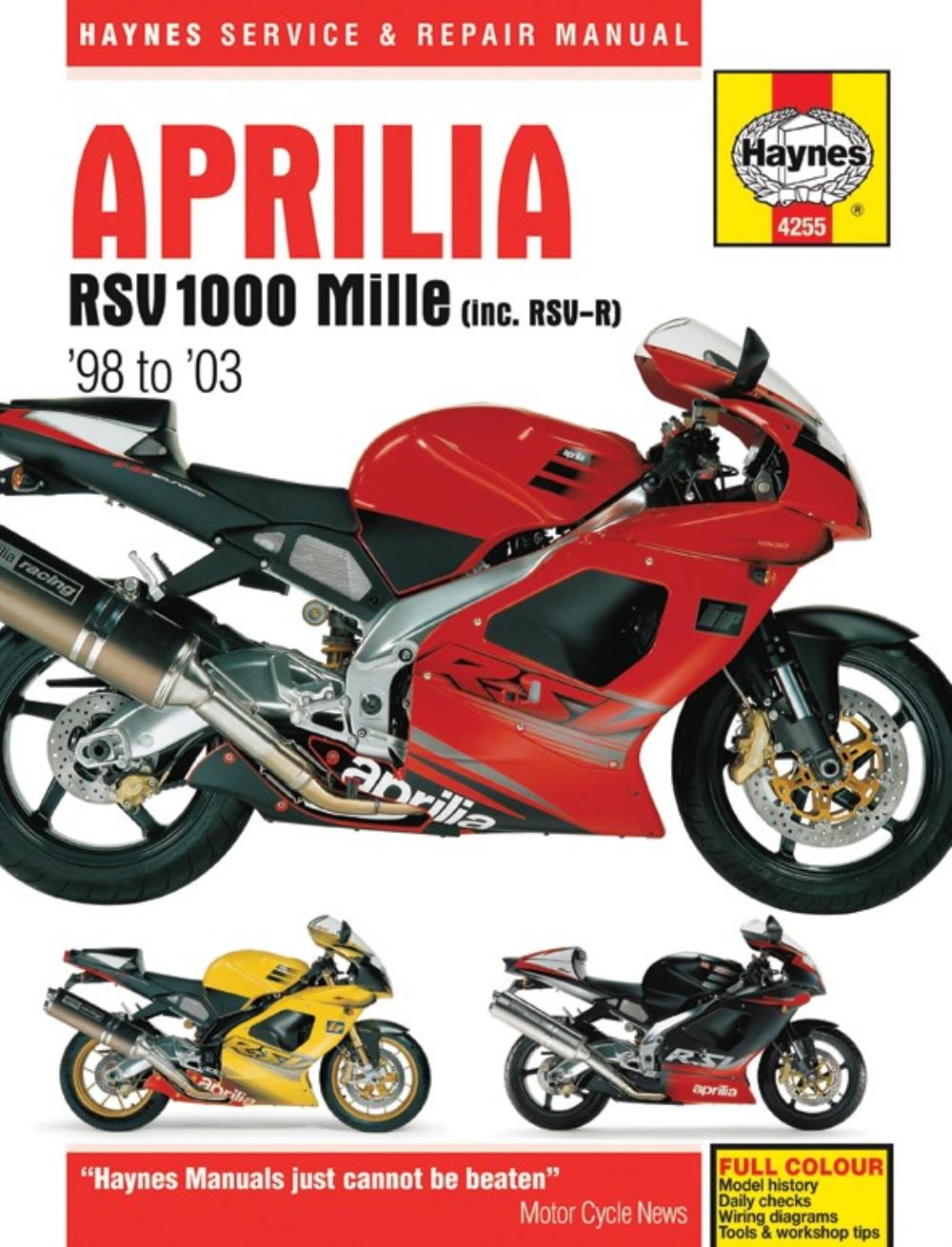 medium resolution of image is loading manual haynes for 2002 aprilia rsv 1000