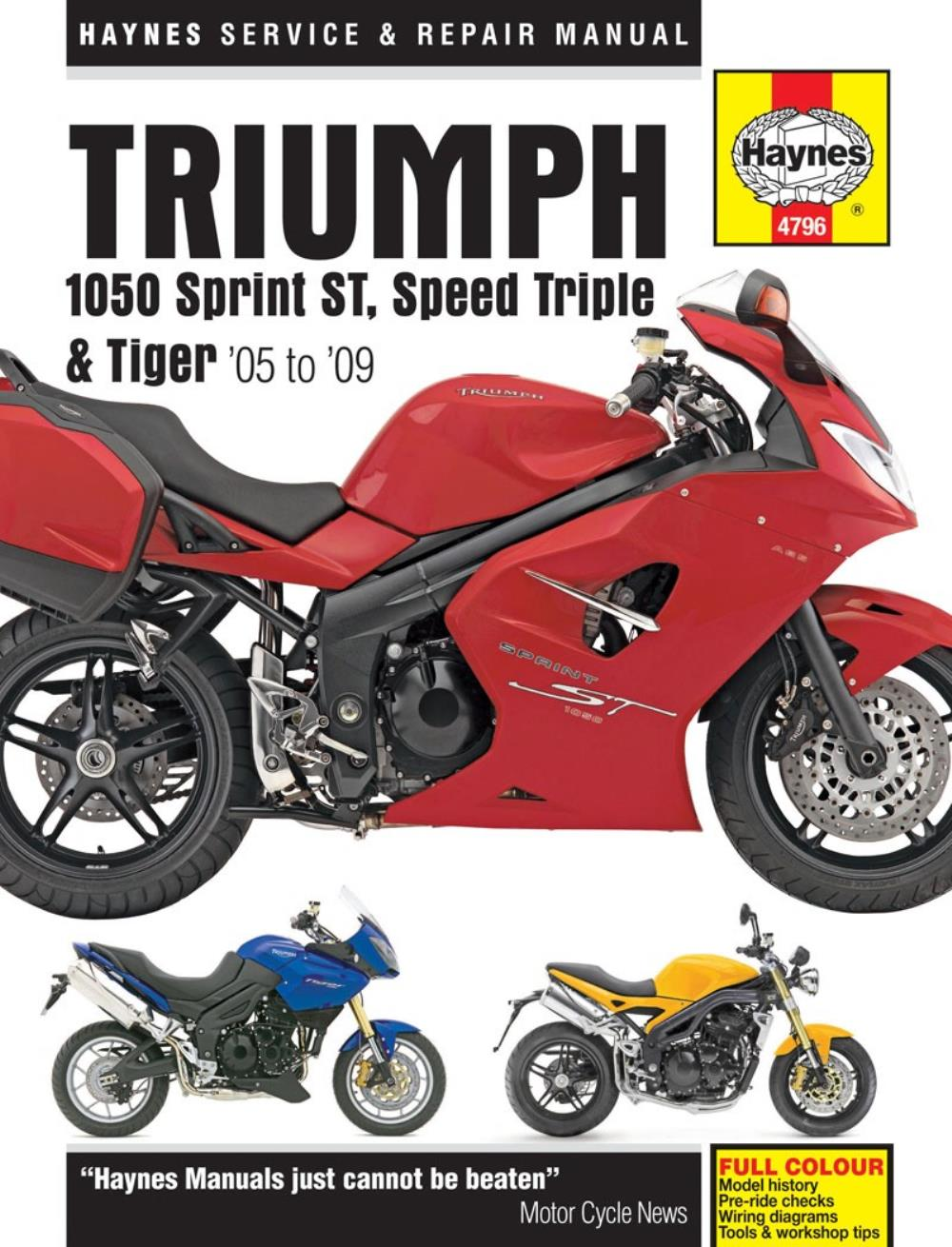hight resolution of image is loading manual haynes for 2010 triumph speed triple 1050