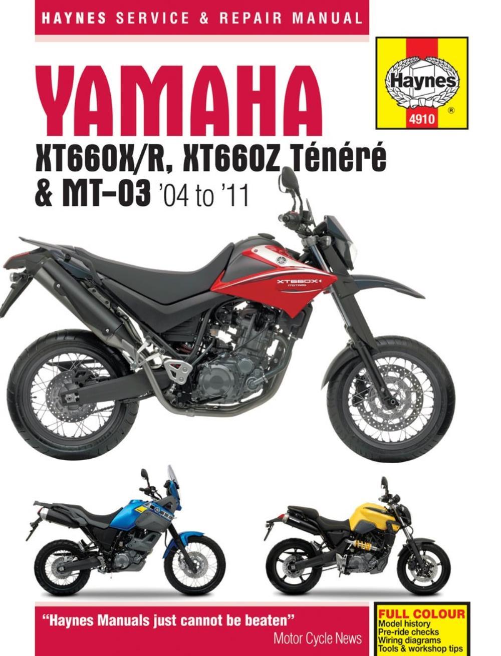 medium resolution of image is loading haynes manual 4910 yamaha xt660 amp mt 03
