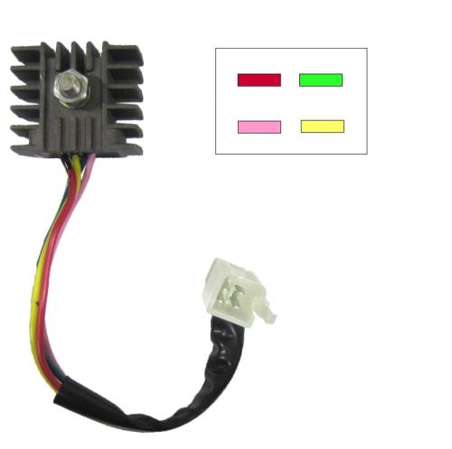 small resolution of rectifier honda 4 wire type ideal replacement for c90 ebay 4 wire rectifier wiring