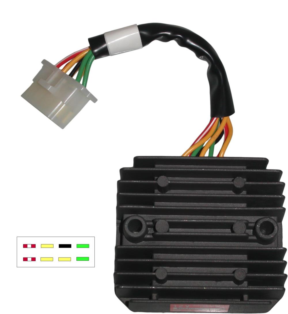 hight resolution of image is loading regulator rectifier honda gl1100 gl1200 8 wires sh541c