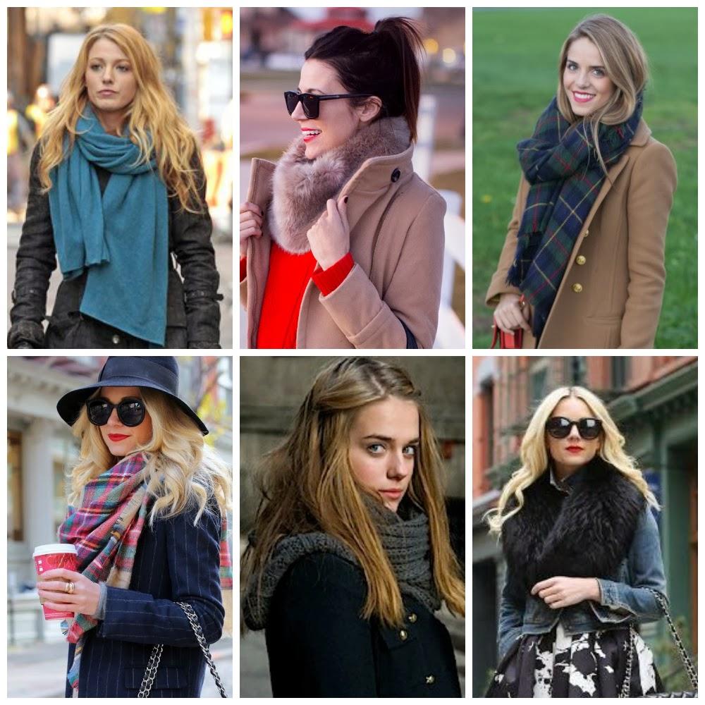 style inspiration: big scarves.