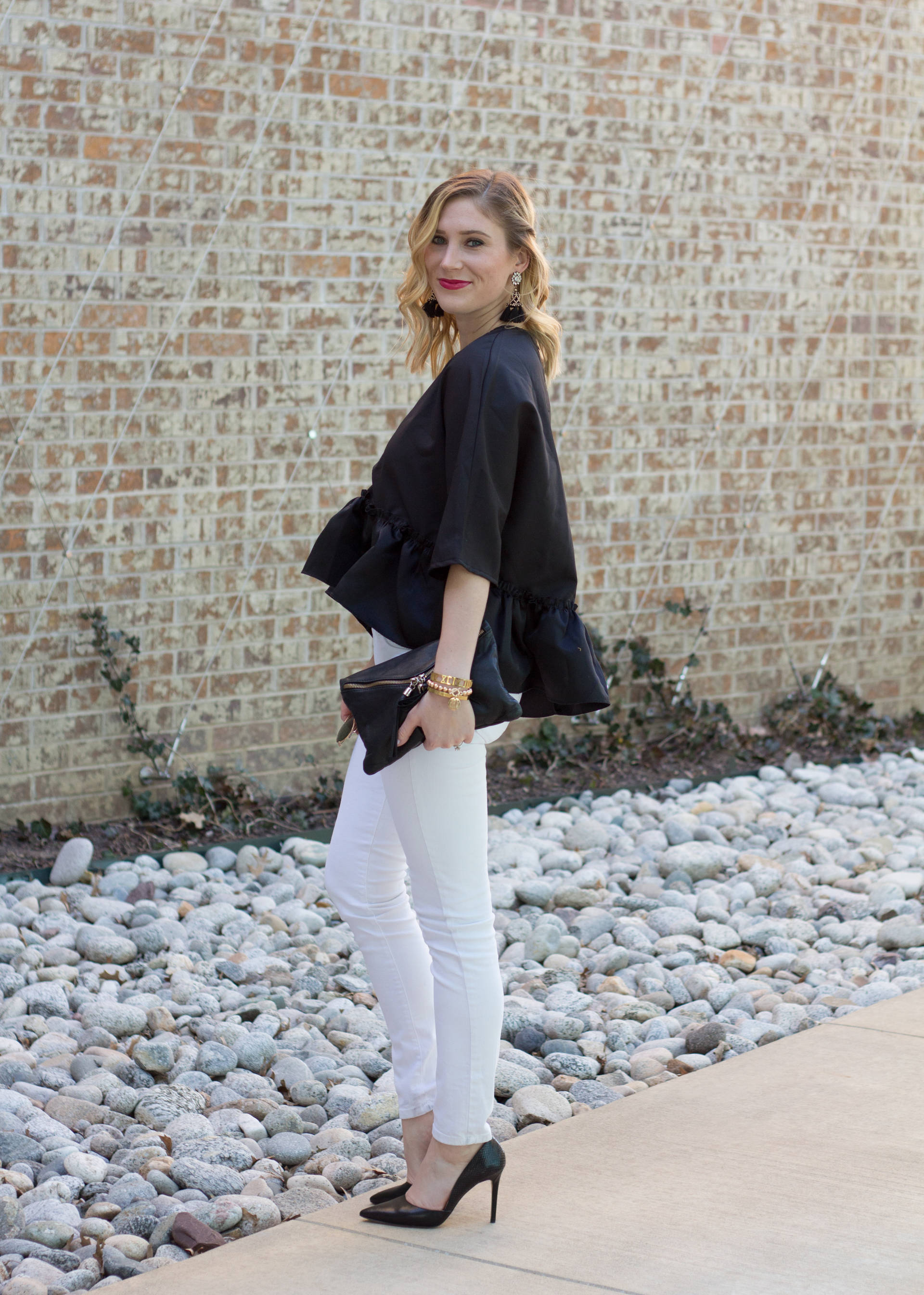 Statement Ruffle | Gold-Hatted Lover