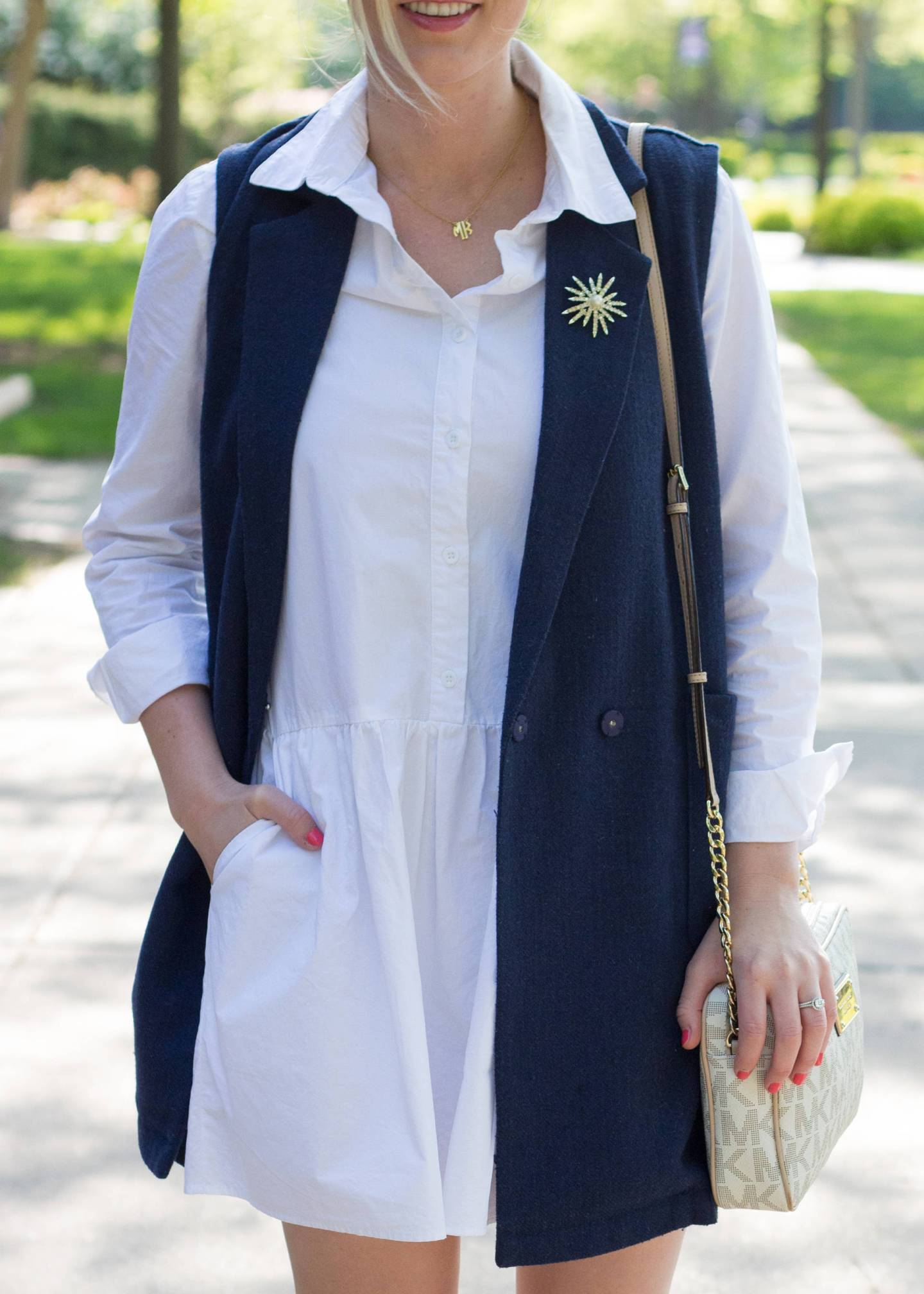 The Best $25 Little White Dress   Gold-Hatted Lover