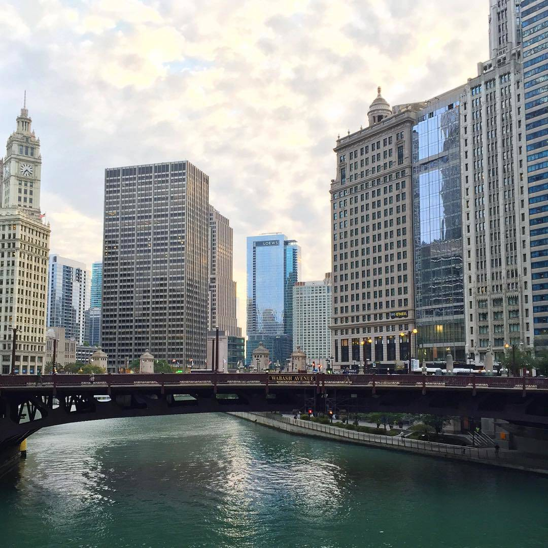 Chicago Riverwalk Sunrise