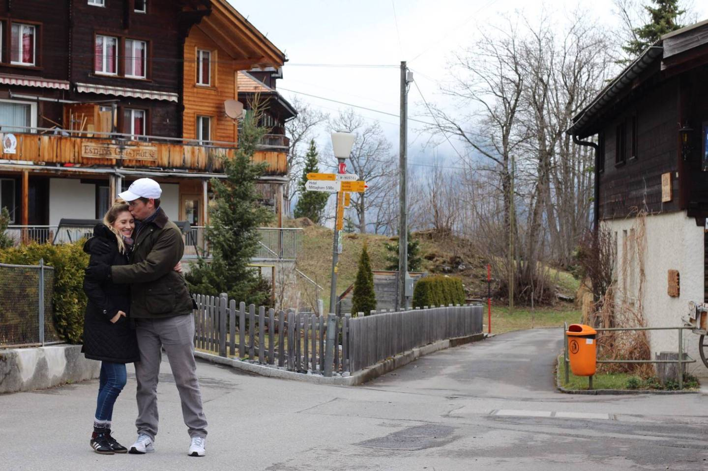 Couple Travel in Swiss Alpine Towns