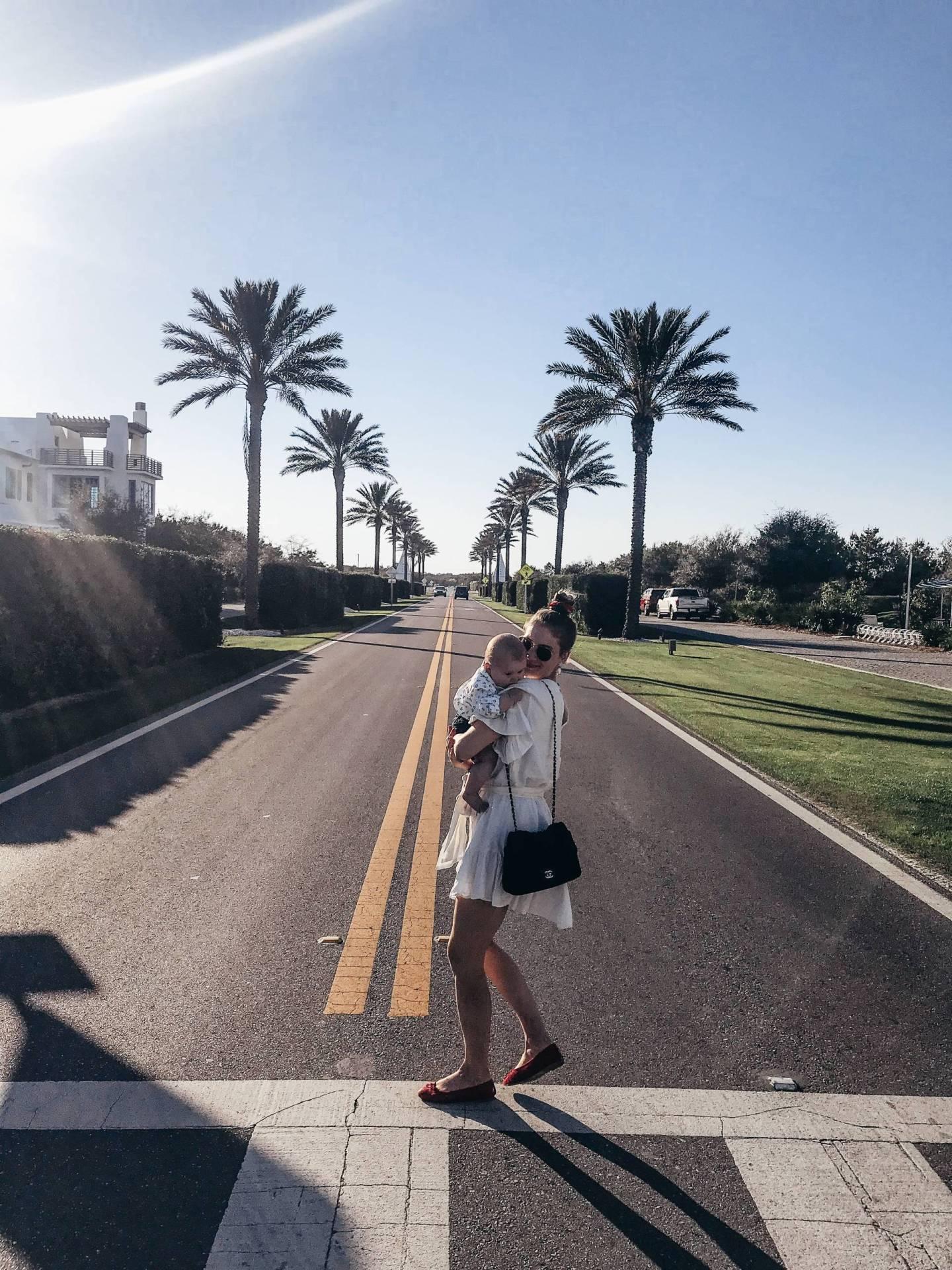 Spring Style White Dress Alys Beach 30A Florida