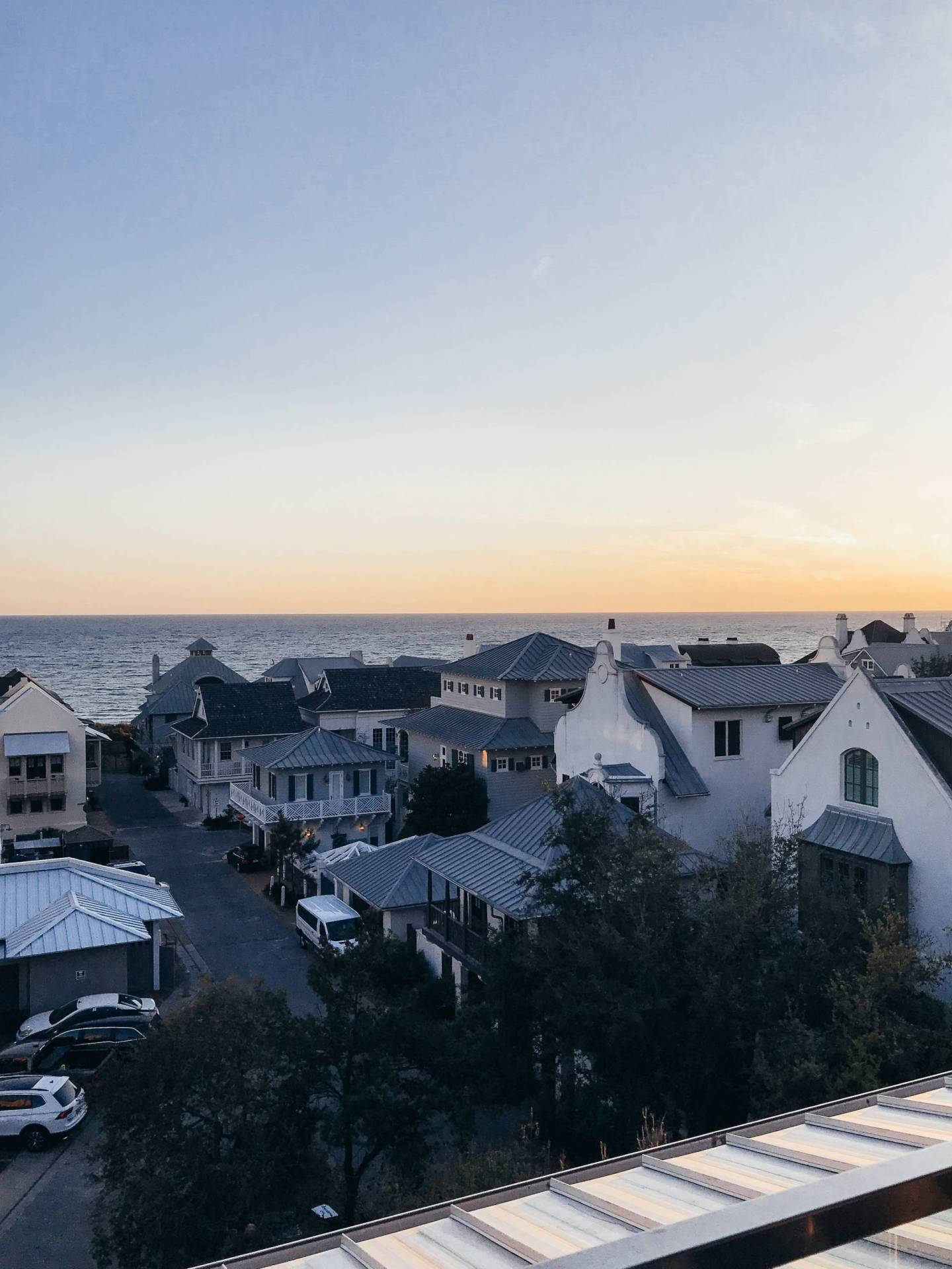 Sunset at Pescado Best Rooftop Bar in Rosemary Beach 30A Florida