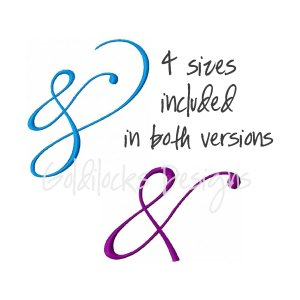 """Ampersand """"and"""" fancy embroidery design"""
