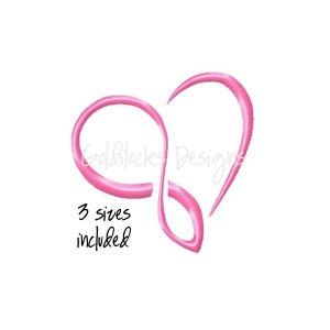 Infinity Heart love wedding embroidery design