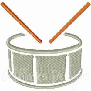 Snare drum band instrument embroidery design