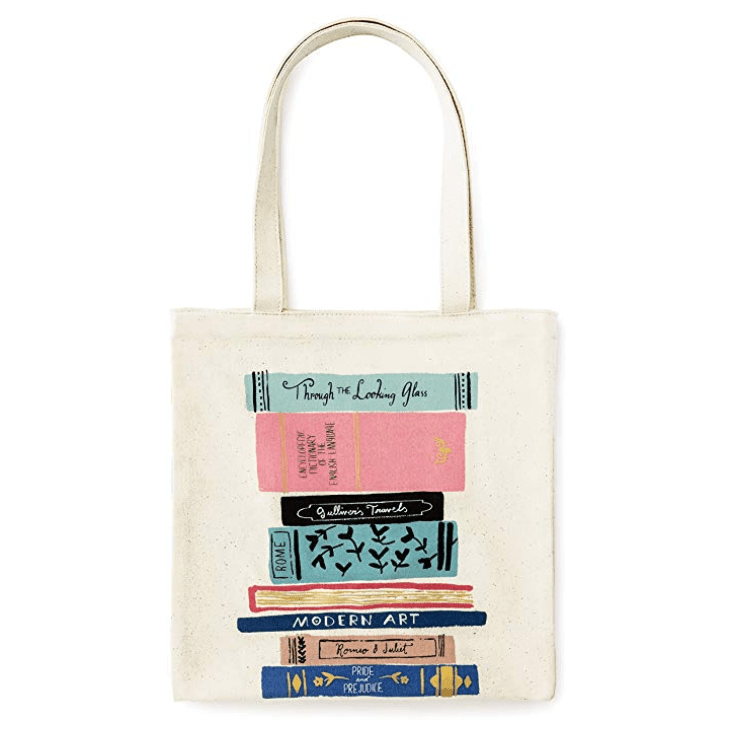 Kate Spade New York Canvas Book Tote with Interior Pocket