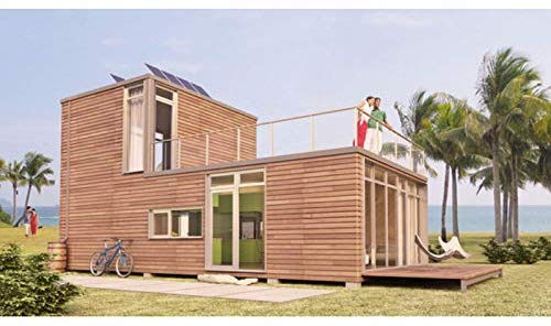 Two Story Eco Friendly Pre Fabricated Wooden home