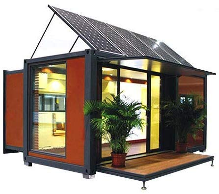 expandable container house with solar panels