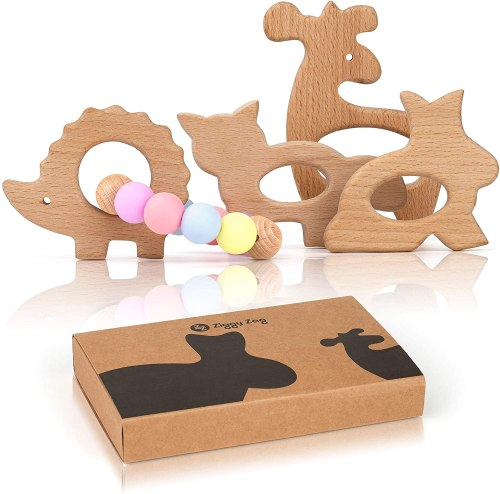 Forest Buddies Wooden Baby Teething Toys
