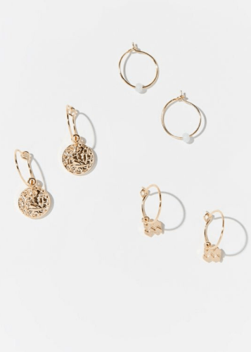 Aquarius Zodiac Charm Hoop Earring Set - February Gift Ideas - Goldilocks Effect