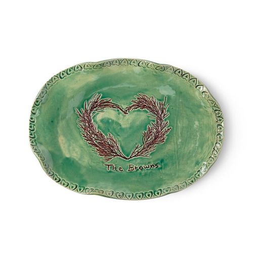 Evergreen Love Serving Platter
