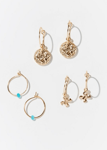 Pisces Zodiac Charm Hoop Earring Set - February Gift Ideas - Goldilocks Effect