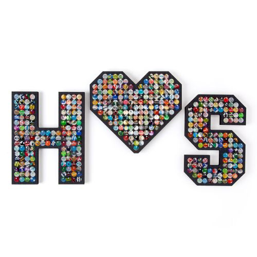 Recycled Aluminum Dancing Mosaic Letters - 9