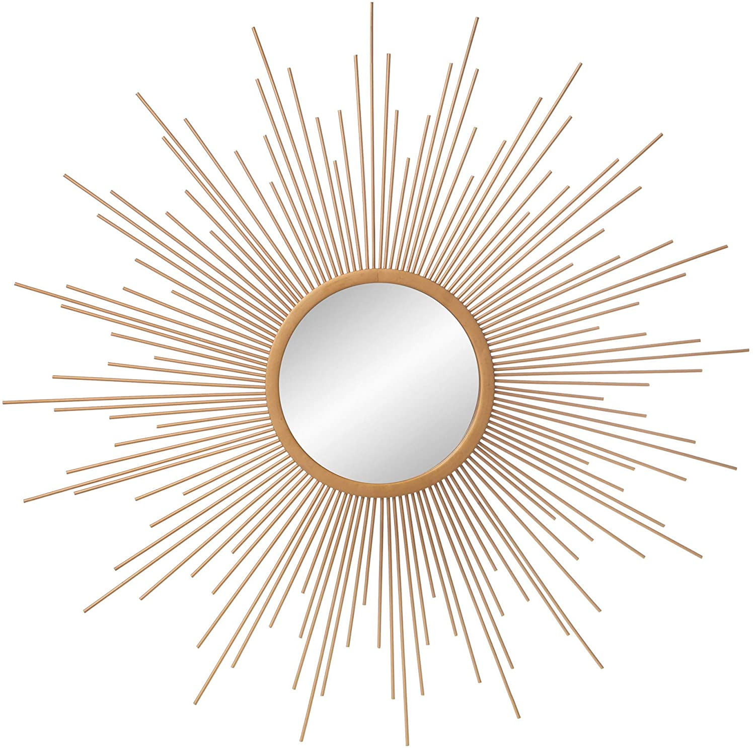 Gold Spoked Sunburst Wall Accent Mirror