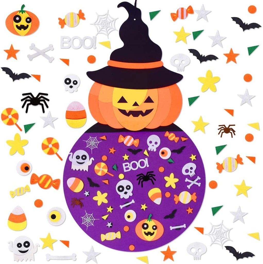 Halloween Felt Pumpkin Witch