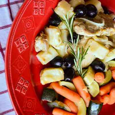 Italian roast chicken