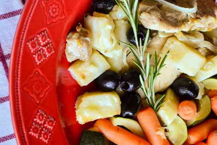 Italian Roast Chicken and olives