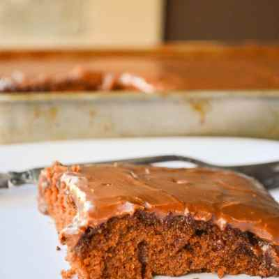 Hoosier sheet cake