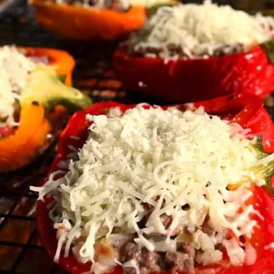 Make ahead stuffed bell peppers