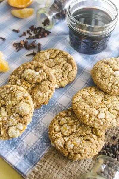 Orange-Spice Molasses Cookies