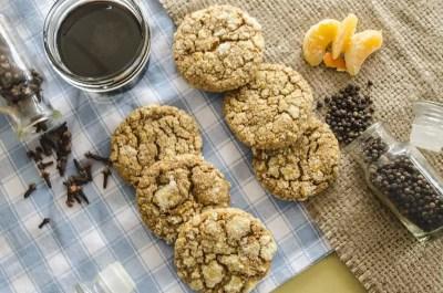 Orange-spice Molasses Cookies top vew
