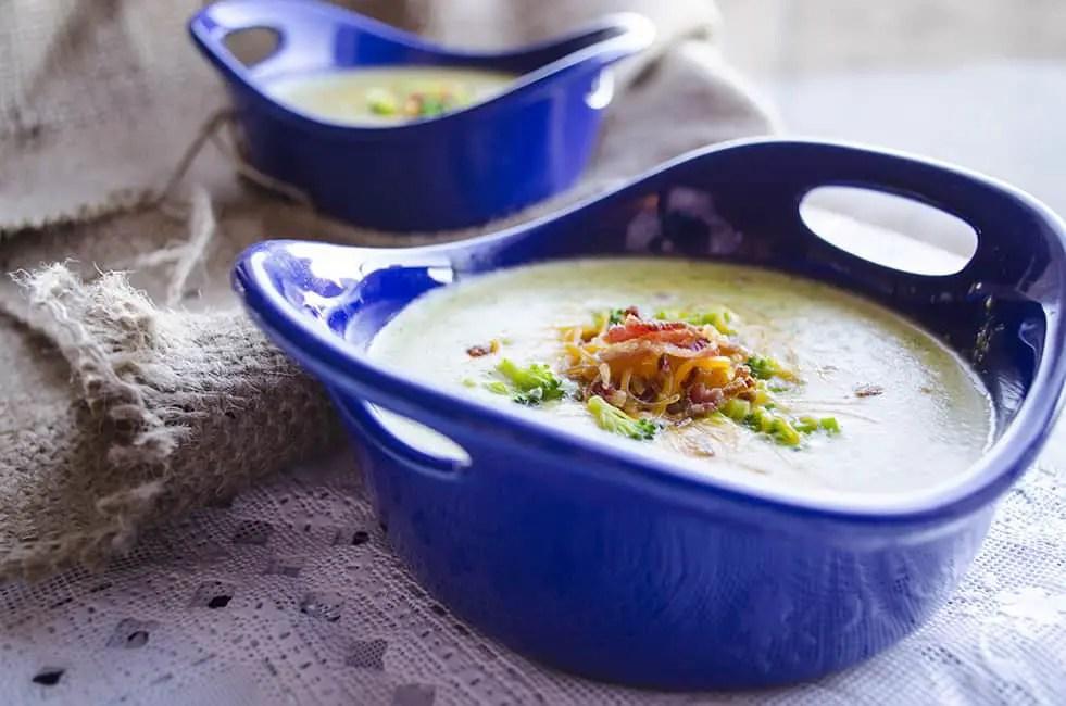Broccoli Cheddar Soup side view