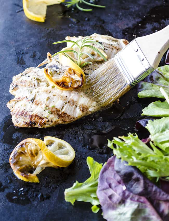30 minute dinner: Grilled Rosemary Garlic Chicken salad