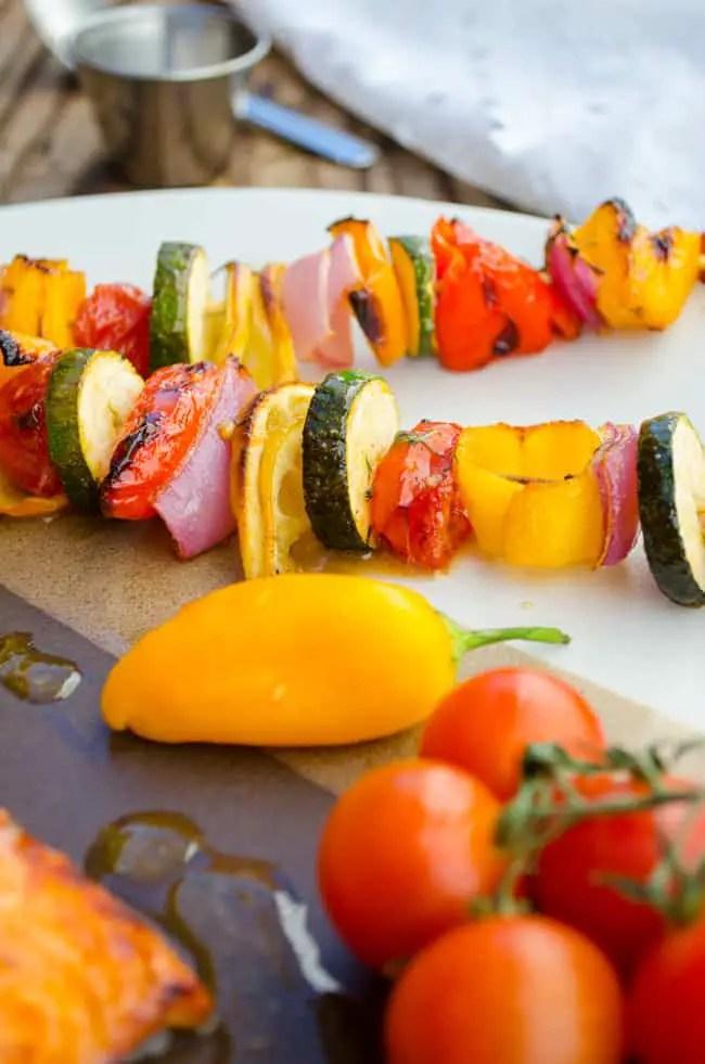 Glazed Veggie Skewers