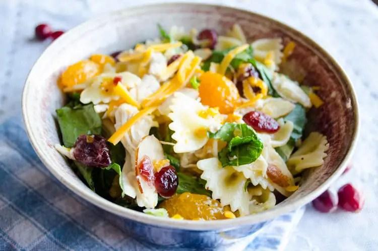 Chicken Bowtie Pasta Salad Bowl