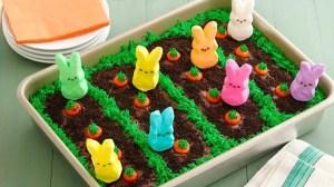 Peeps Easter garden cake
