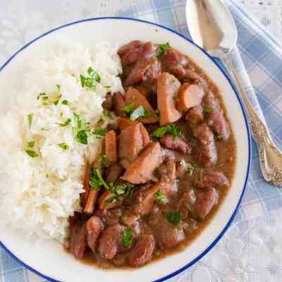 Crockpot Red Beans and Rice
