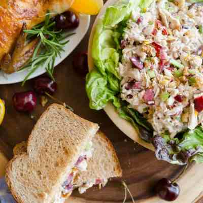 Cherry Orange Chicken Salad with Candied Walnuts