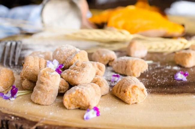 Sweet Potato Gnocchi Close Up