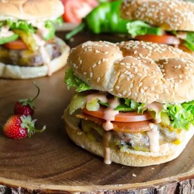 Bacon Green Chile Cheeseburgers