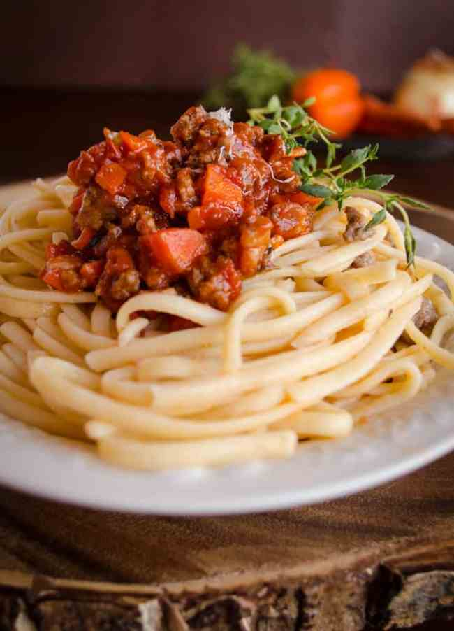 25 Minute Pasta Bolognese Dinner